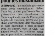 Luksemburg: CET ukazao na diskriminaciju muslimana