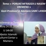 Luksemburg – Predavanje za žene: Gost, Ammara Šabić Langić