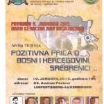 Luksemburg: Tribina povod 9. januara, Dana genocida nad Bošnjacima