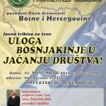 """Povodom Dana državnosti BiH – Javna tribina u Luksemburgu: """"Uloga Bošnjakinje u jačanju društva!"""""""