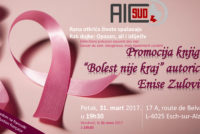 """Žene protiv karcinoma: Promocija knjige """"Bolest nije kraj"""" 31. marta u Luksemburgu"""